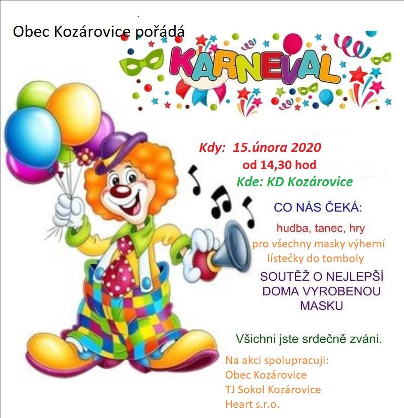 Dětský karneval – 15. 2. 2020